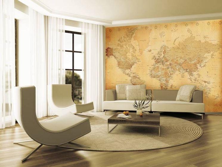 Arredare casa con cartine e mappa design arredamento for Arredare con i colori