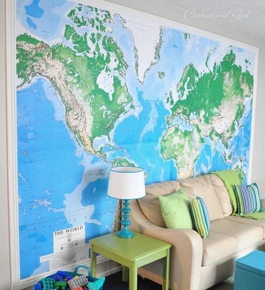 arredare casa con cartine e mappa design arredamento On carta da parati con mappe