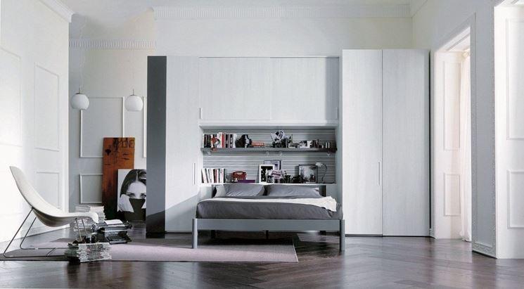 Camera da letto con armadio a ponte - Arredamento casa - Armadio a ...