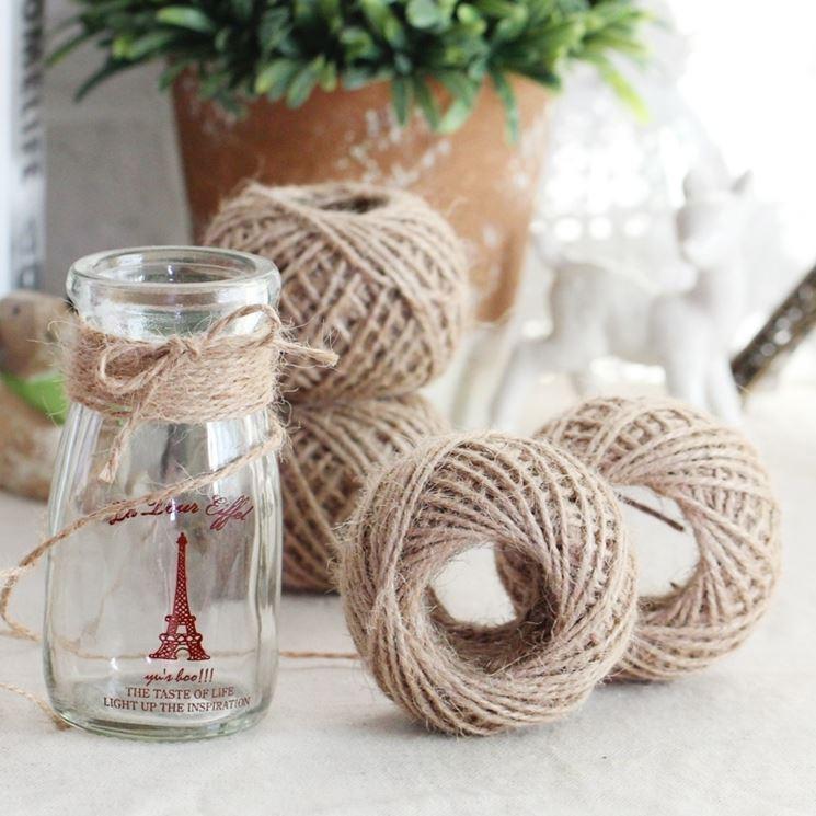vaso decorato con corda