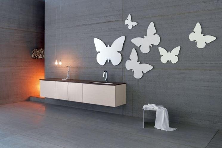elementi a forma di farfalla