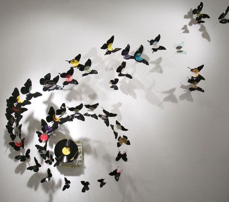 elementi di arredo a forma di farfalla