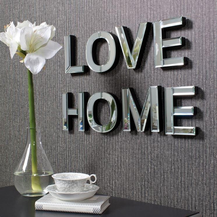 lettering per casa