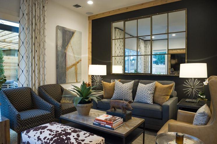Preferenza Lo specchio in soggiorno per ampliare lo spazio - Arredamento casa  ZR52
