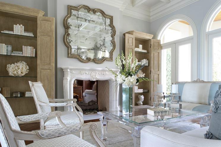 Lo specchio in soggiorno per ampliare lo spazio - Arredare con specchi ...