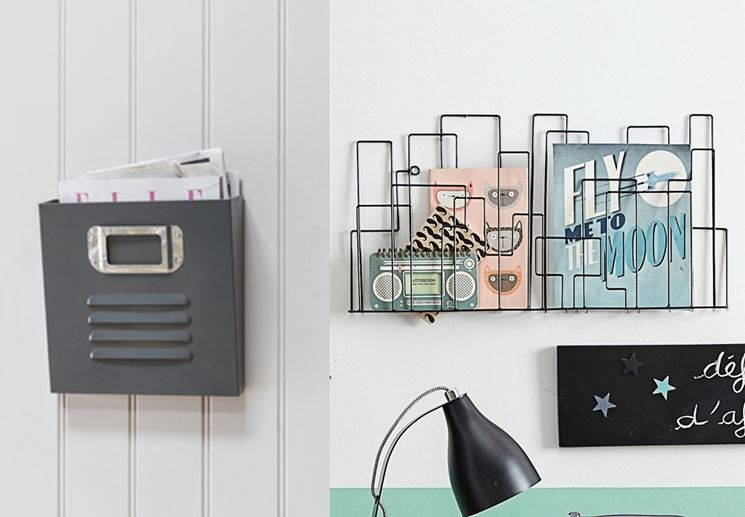 tipo di porta riviste per parete