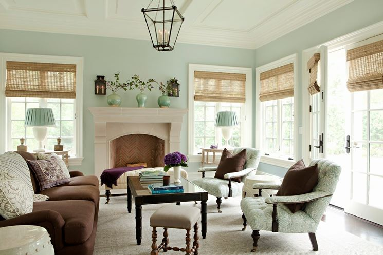 salotto stile vintage: progetto d'arredo - arredamento casa ... - Arredare Salotto Vintage Contemporaneo
