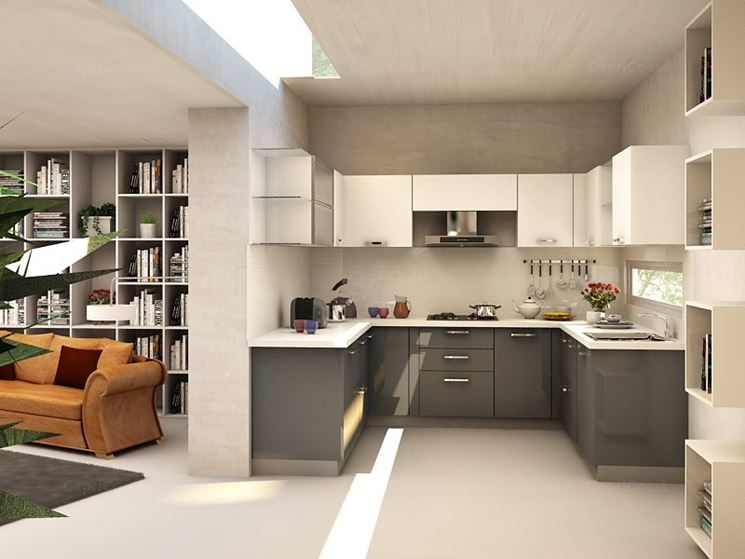 separare la cucina dal soggiorno - arredamento casa - come ... - Arredare Unico Ambiente Cucina Soggiorno