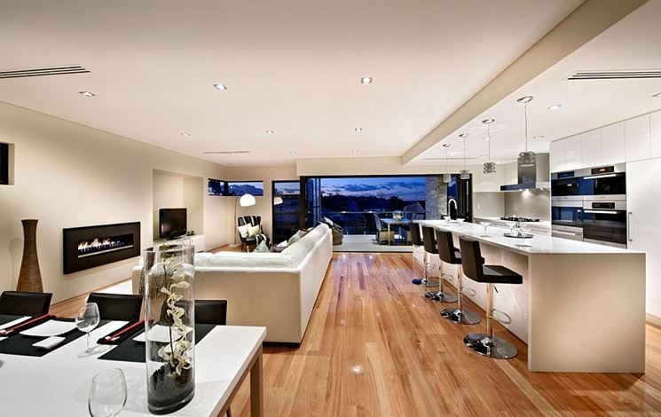 Soggiorno open space, soluzione progettuale - Arredamento casa ...