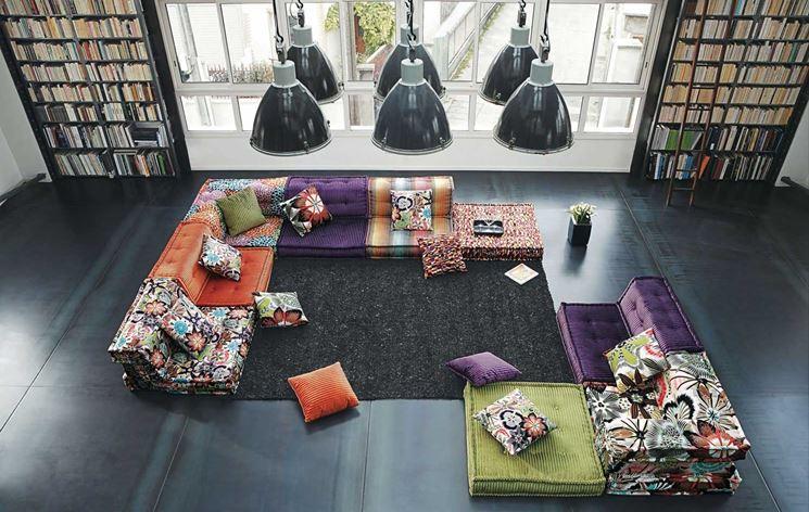 divani moderni e colorati