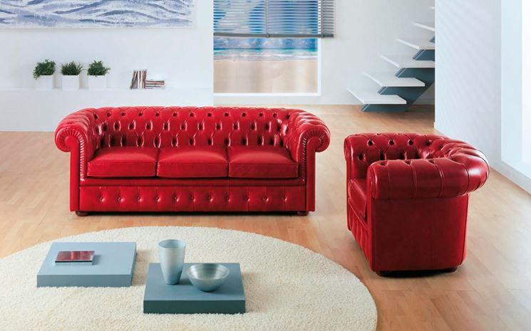 divano in pelle chester