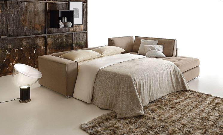 divano letto angolare moderno