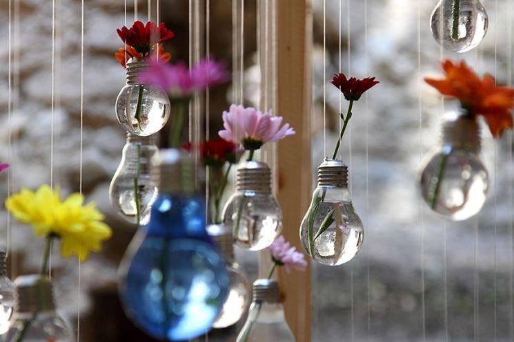lampadine come porta fiori