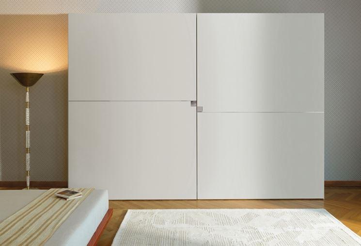 Esempio di armadio moderno con ante complanari