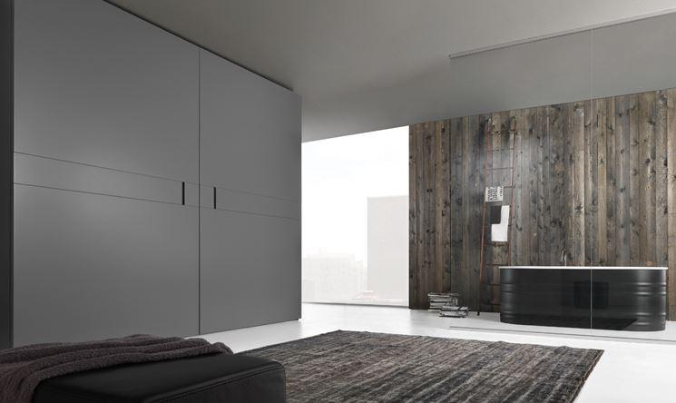 armadio moderno con apertura complanare