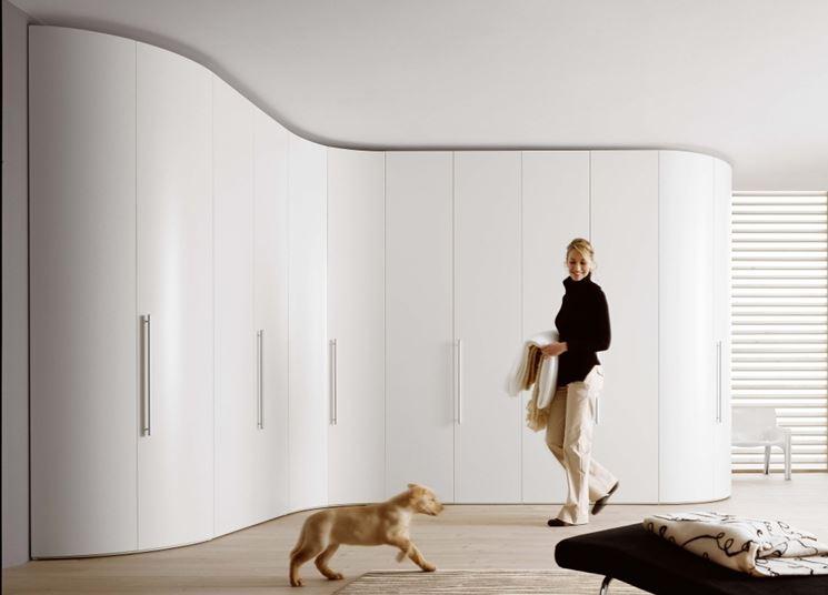 esempio di armadio angolare moderno