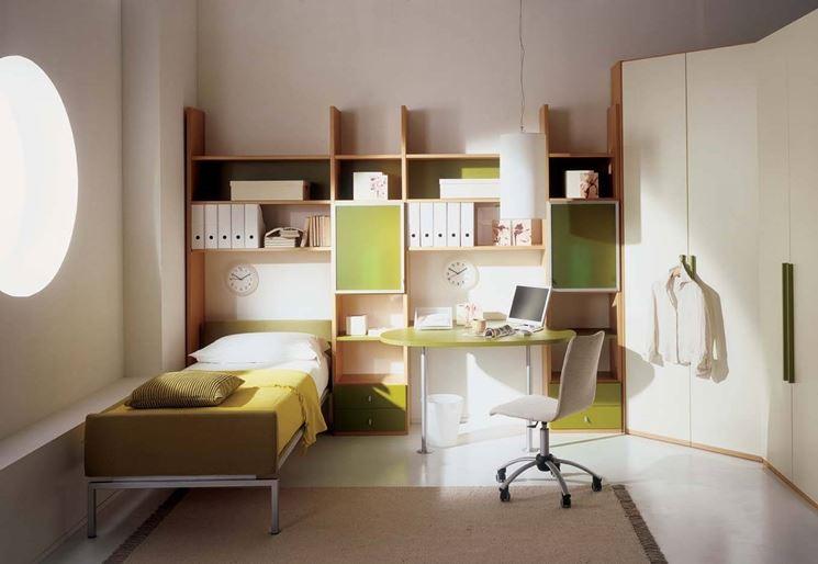 Cameretta con angolo studio mobili cameretta con - Angolo studio in camera da letto ...