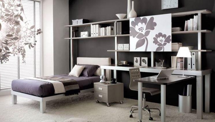 Cameretta con angolo studio mobili cameretta con scrivania per studio - Camera studio arredamento ...