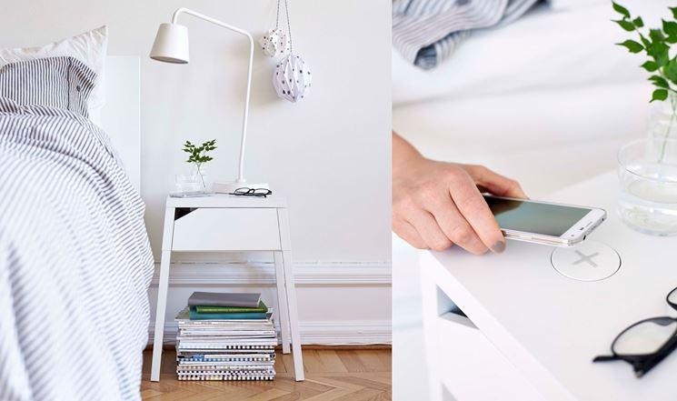 comodino Selje Ikea con ricarica wireless