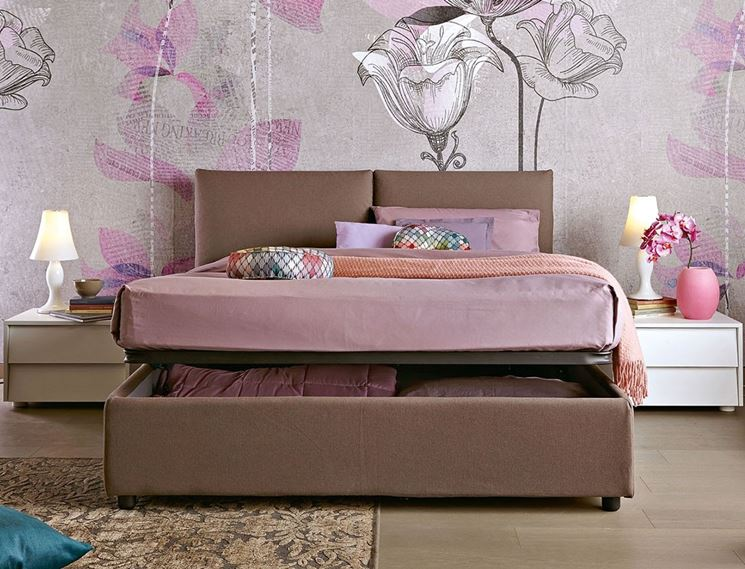 letto moderno con contenitore