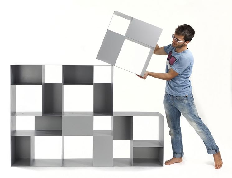montaggio libreria modulare