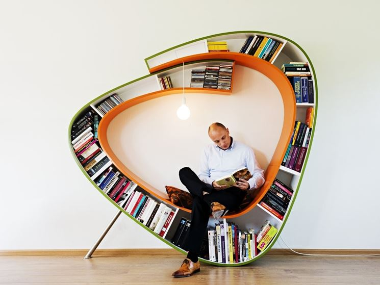 libreria moderna a spirale