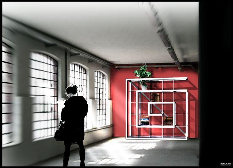 esempio di libreria moderna a spirale