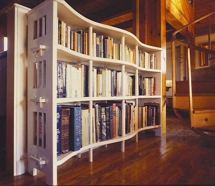 Librerie curve mobili modelli ed idee per le librerie - Librerie da camera ...