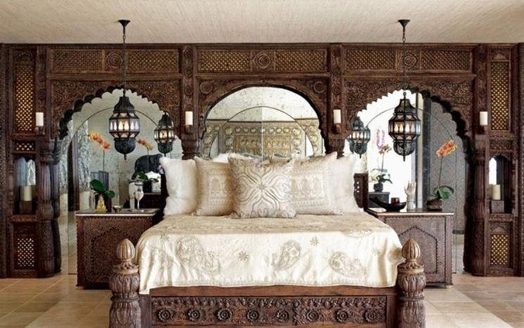Camera da letto in stile marocchino
