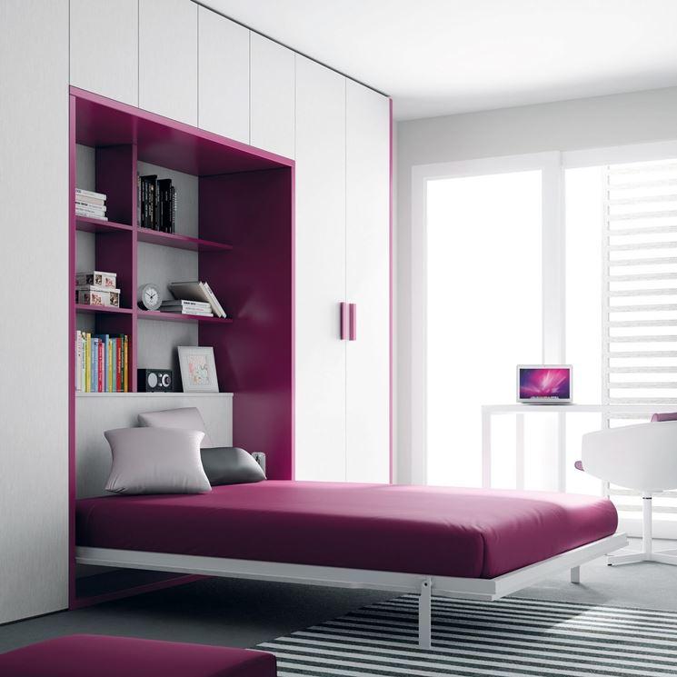 Mobili letto a scomparsa mobili mobili con letto a for Ikea letto ribaltabile