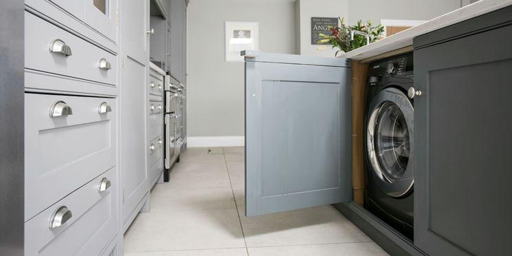 Mobile per lavatrice in cucina