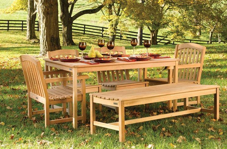 tavoli da giardino teak
