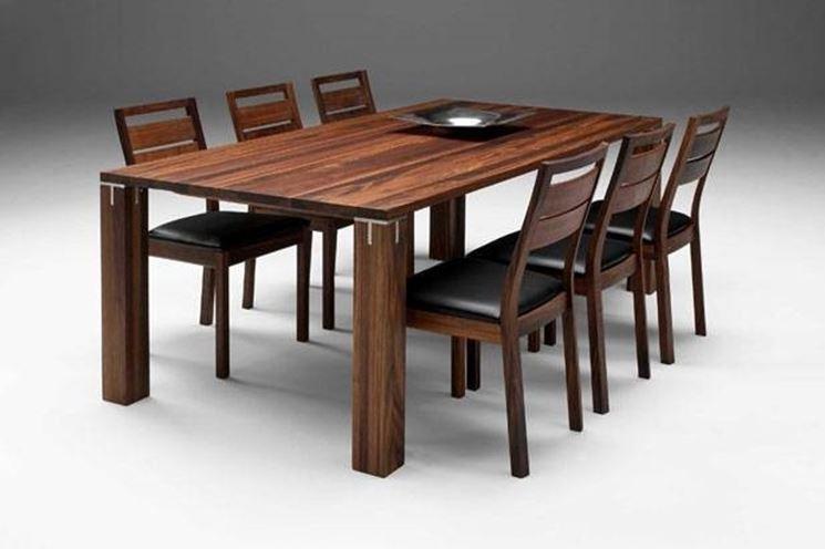 Tavoli in legno massello tavoli for Tavoli estensibili in legno