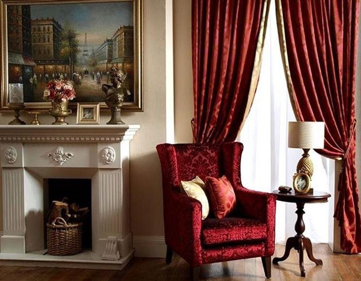 Tende classiche con mantovana tendaggi for Tende casa classica