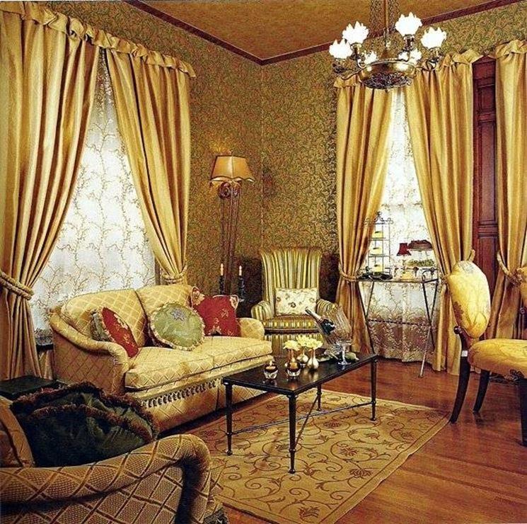Tende classiche tendaggi for Arredamento tende salotto