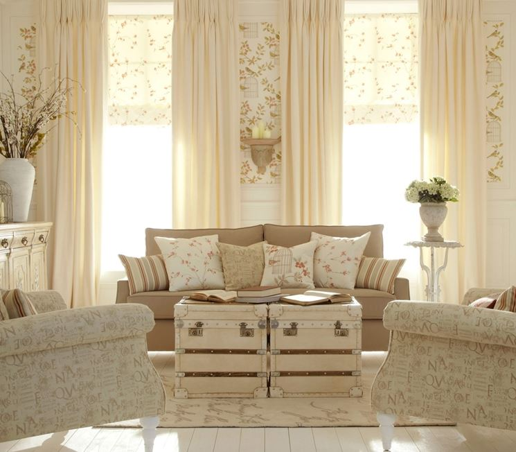 Tende shabby chic tende idee per tende shabby chic for Tende shabby chic