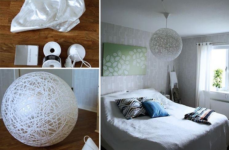 paralumi con spago: lampadari con materiali di riciclo foto design ... - Telai Per Paralumi Napoli