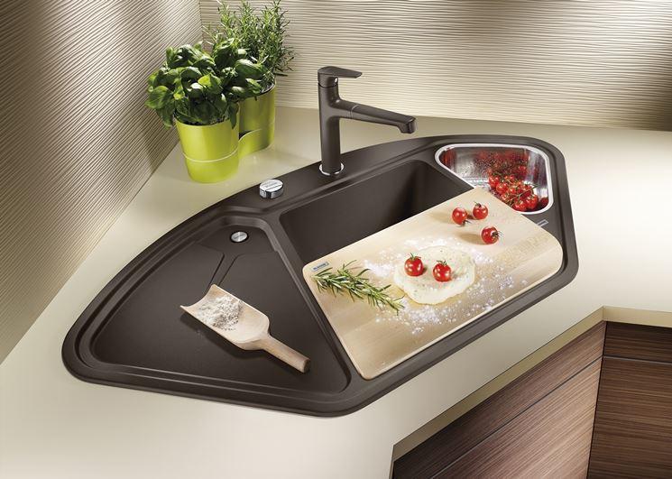Lavello ad angolo - Componenti cucina - Lavandino angolare