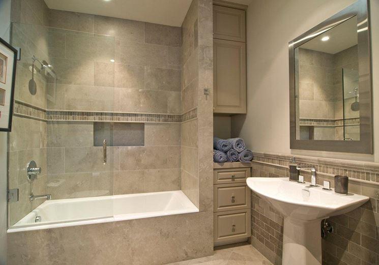 Bagno con vasca e box doccia - Bagno - Realizzare bagno con vasca e ...