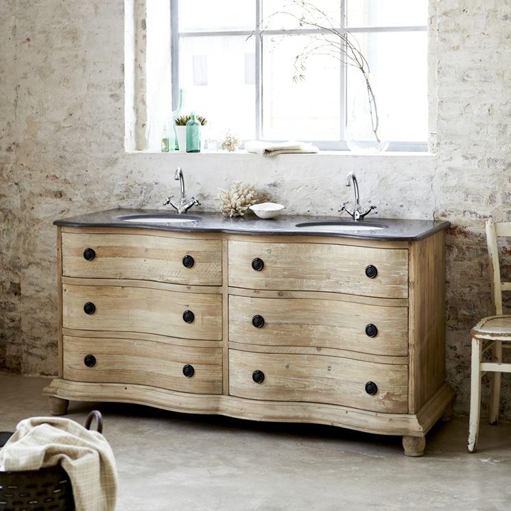 Bagno shabby chic bagno arredare un bagno shabby chic for Meuble double vasque solde