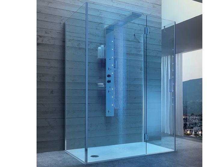 Box doccia cristallo bagno la doccia in cristallo - Doccia senza porta ...