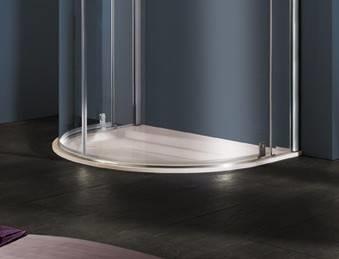 Box doccia semicircolare bagno - Box doccia con tenda ...