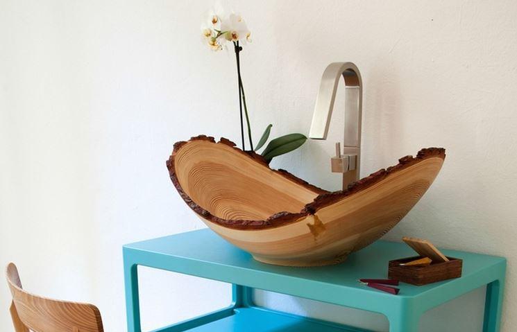 lavabo in legno moderno