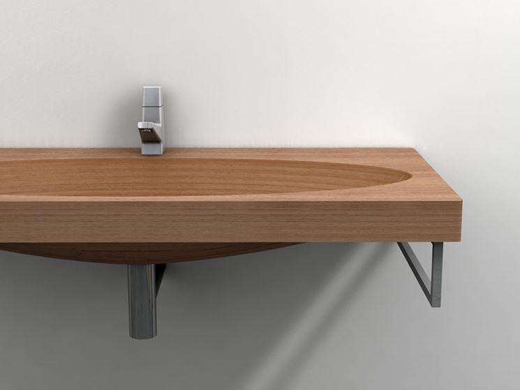 Lavabi in legno per un arredo bagno natural bagno for Arredo bagno in legno