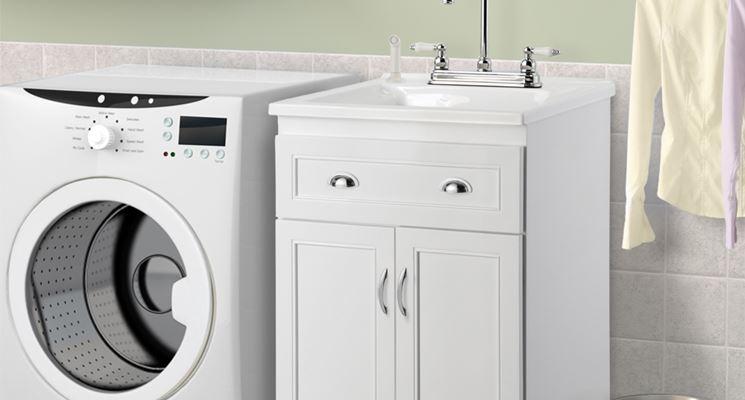 Lavabo lavanderia con mobile