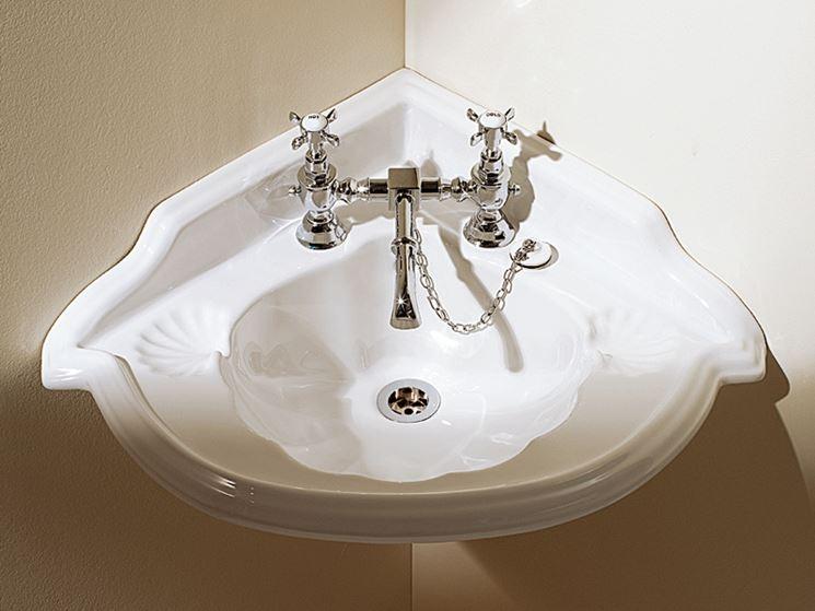 lavabo angolare classico