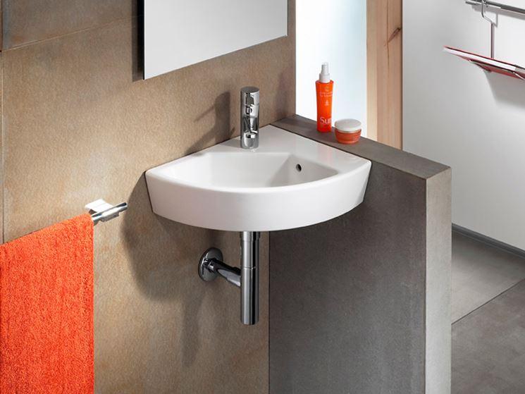 Lavabo ad angolo per bagni piccoli bagno lavabi - Dimensioni lavandino bagno ...