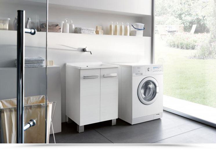 Lavabo da lavanderia con mobile - Acqua Ceramica