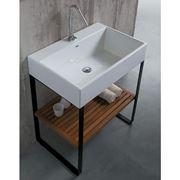 lavabo su struttura acciaio