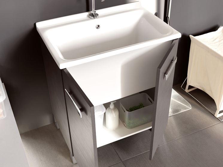 Lavatoio con mobiletto bagno mobile lavatoio - Mobiletti da esterno ikea ...